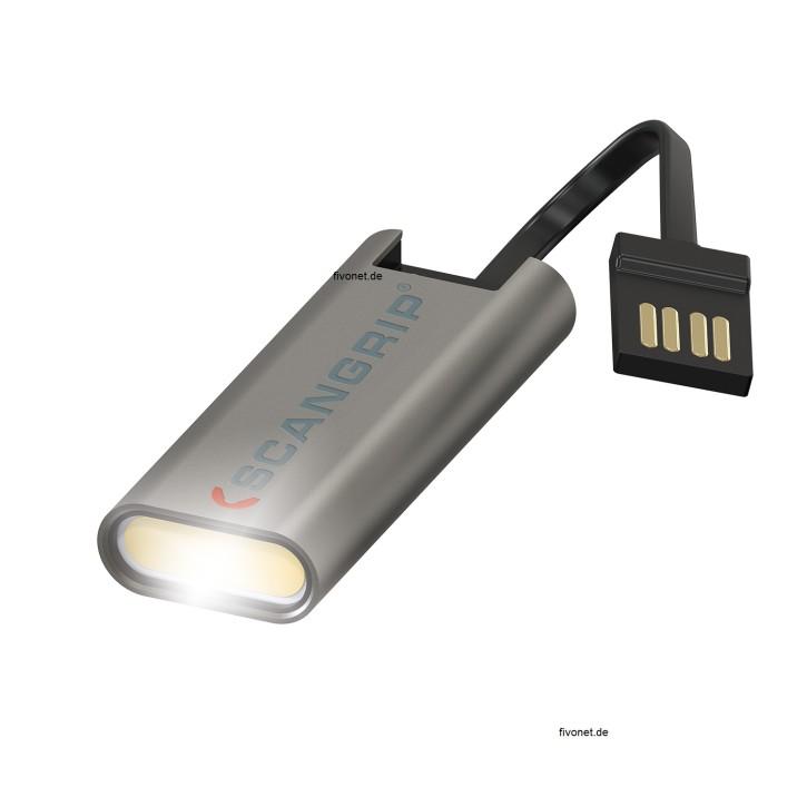 Scangrip 03.5113 Flash Micro R Taschenlampe USB Schlüsselanhänger Akku