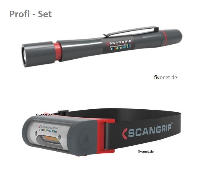 Scangrip 03.5446 I-Match 2 Kopflampe und Matchpen Fahrzeugaufbereitung