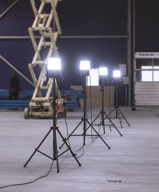 4x Scangrip 03.5637 AREA LITE CO LED Baustrahler mit Steckdose