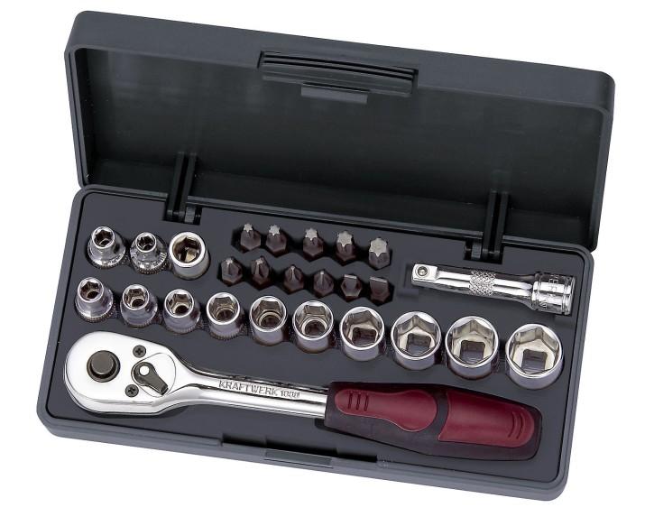 26-teiliger Steckschlüsselsatz Ratschenkasten 4 - 13mm