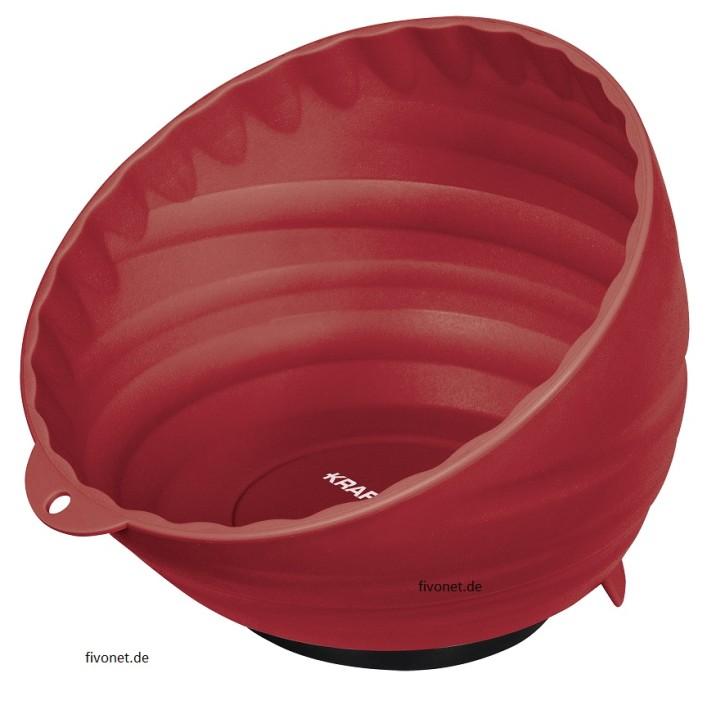 KRAFTWERK 2949-1 Kunststoff Magnetschale Rot