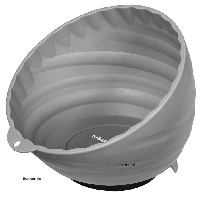 KRAFTWERK 2949-2 Kunststoff Magnetschale Grau