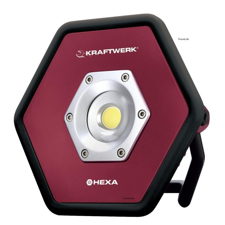 KRAFTWERK 10W COB LED Akkustrahler HEXA 32039
