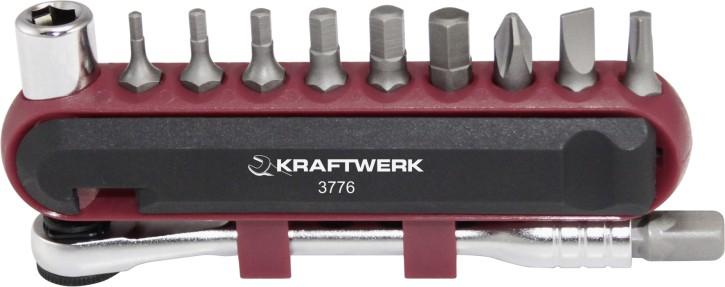 KRAFTWERK Bit - Set 14-teilig mit Mini Ratsche Multitool Fahrrad