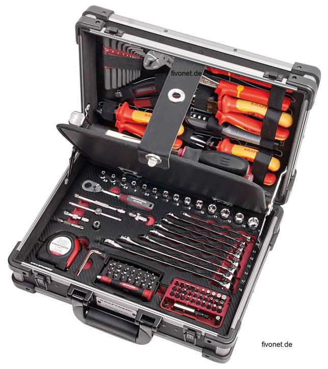 KRAFTWERK 3944.3 Elektriker Werkzeugkoffer 123 tlg. VDE