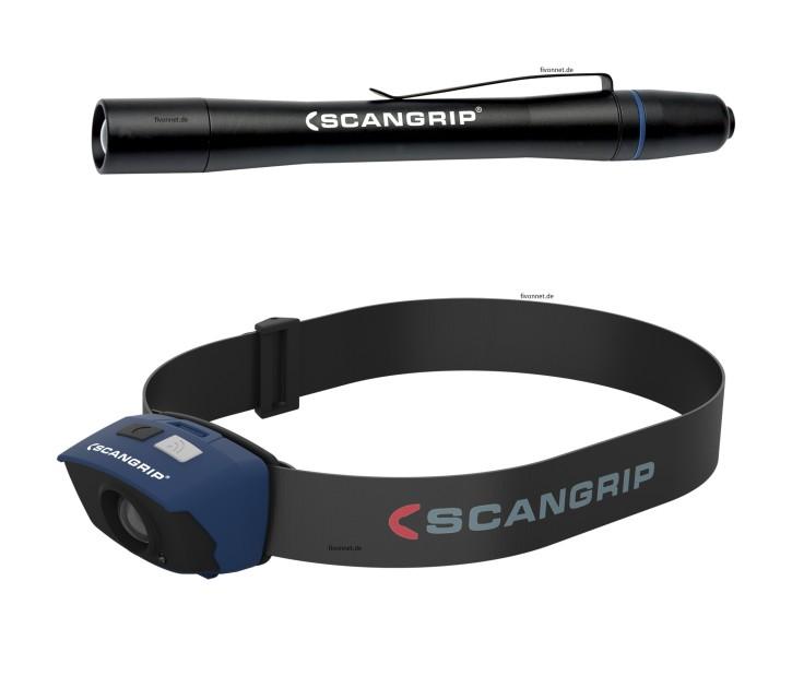 Scangrip Set Sensor2 Kopflampe + Flash Pen Stiftlampe