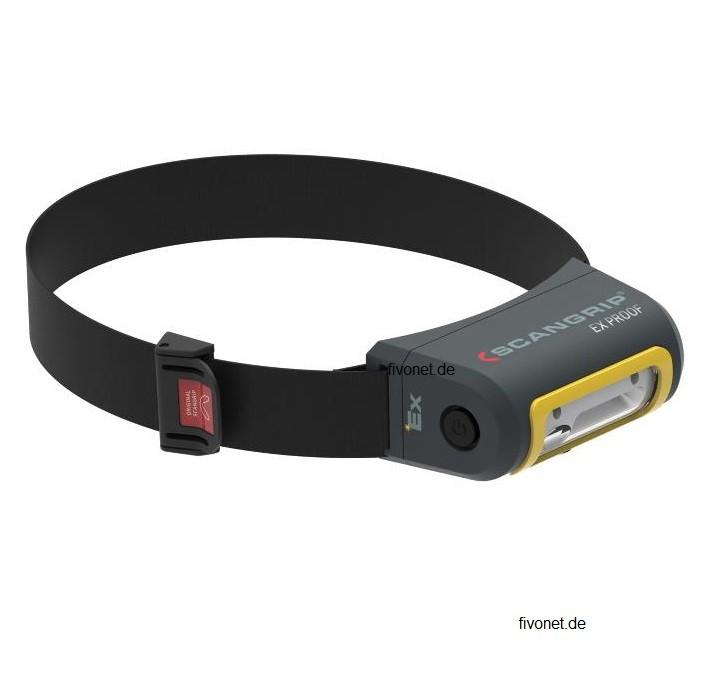 Scangrip EX VIEW Explosionsgeschützte Akku Stirnlampe