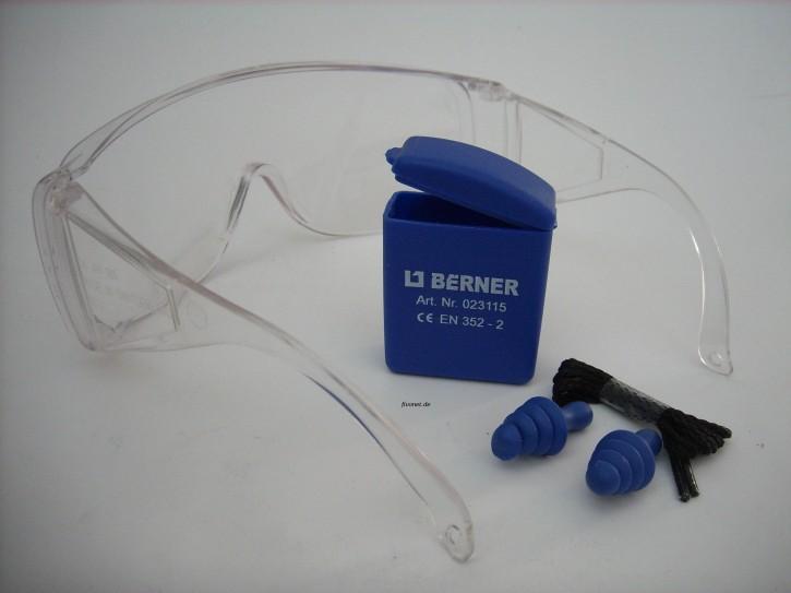 Berner Schutzbrille u. Gehörschutzstöpsel