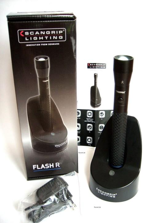 FLASH R Scangrip 03.5114 Taschenlampe mit Akku u. Fokusfunktion