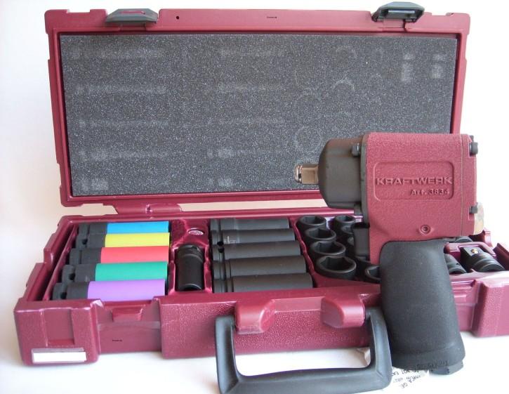 Druckluft Schlagschrauber + Schlag-Steckschlüssel-Satz 4900-70K