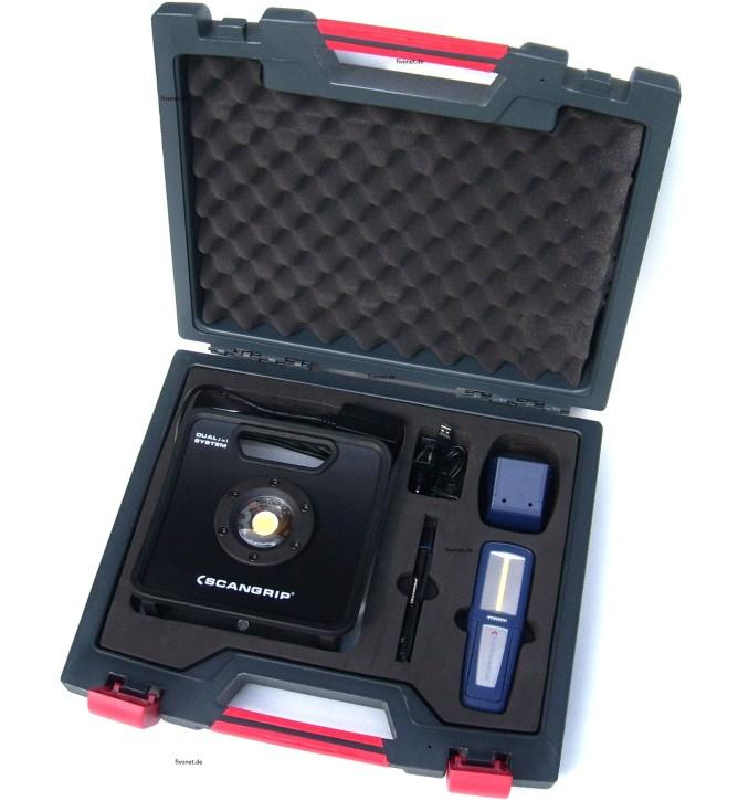 Scangrip NOVA 3K C+R, Uniform, Flash Pen Set im Koffer