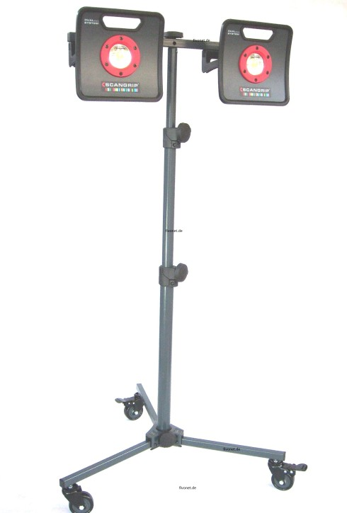 2x Scangrip MULTIMATCH 2 C+R  Akku-Strahler mit Rollstativ