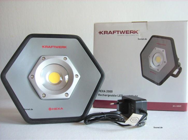 KRAFTWERK 20W COB LED Akkustrahler HEXA 32037