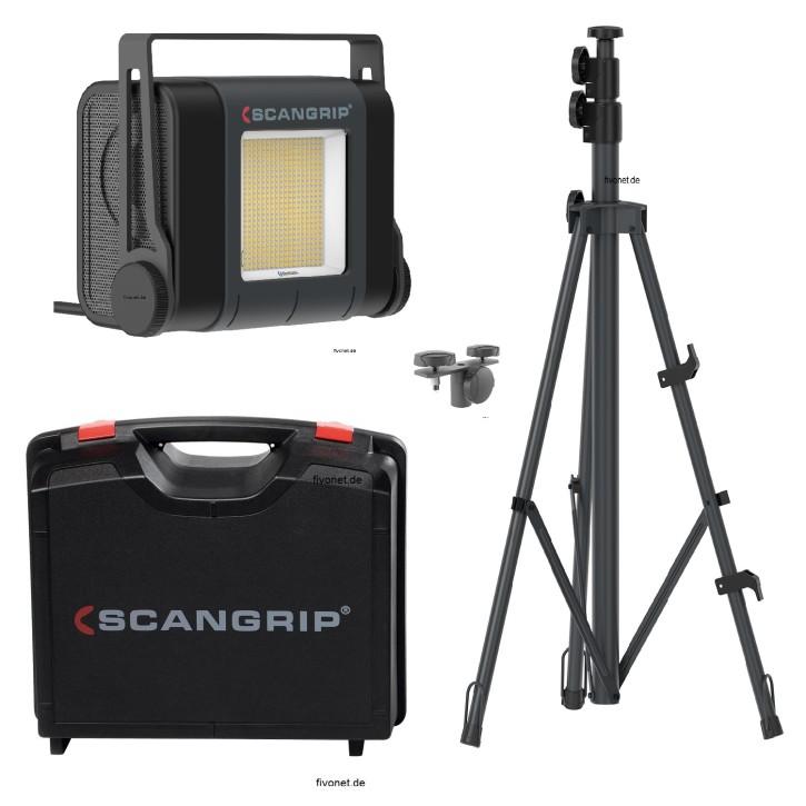 Scangrip 03.5268 SITE LIGHT 30 Baustrahler mit Koffer Stativ