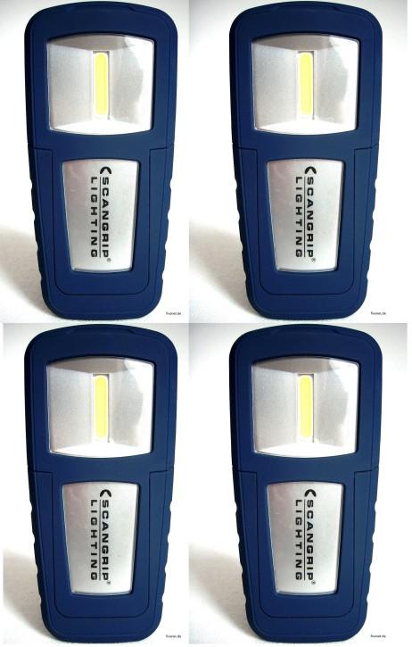 4x Scangrip Miniform 03.5491UK COB LED Akkulampe Werkstattlampe Taschenlampe