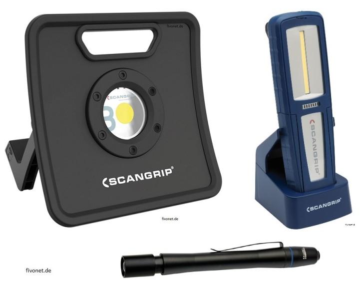 Scangrip Set NOVA 3K Strahler, Uniform, Flash Pen