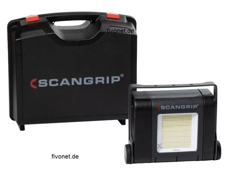 Scangrip 03.5268 SITE LIGHT 30 Baustrahler mit Koffer