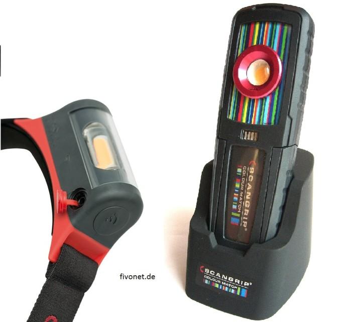 Scangrip SUNMATCH + I-Match Kopflampe Farberkennung