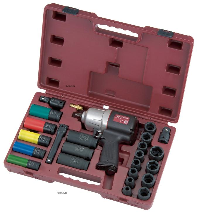 Druckluft Schlagschrauber Koffer Schlag-Steckschlüssel-Satz 3837K