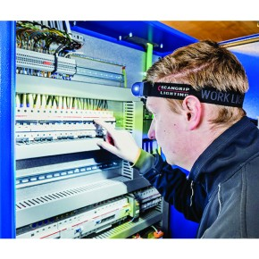 I-VIEW COB Sensor Akku Kopflampe Stirnlampe Scangrip
