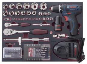 KRAFTWERK 3949 Profi Werkzeugkoffer Bosch Akkuschrauber