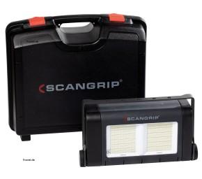 Scangrip 03.5269 SITE LIGHT 60 Baustrahler im Koffer Stativ 3m