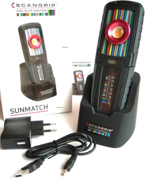 Scangrip SUNMATCH 03.5416 Akkulampe Farberkennung
