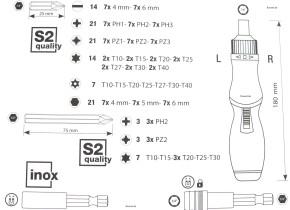 KRAFTWERK Bit-Set Bitkasten 113-teilig mit Ratschenschraubendreher