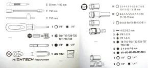 """KRAFTWERK 4007 Steckschlüsselkoffer 1/4"""" FINE POWER"""