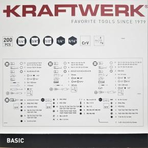 """KRAFTWERK 200-tlg. Steckschlüsselsatz Basic Line 1/4"""" 3/8"""" 1/2"""""""